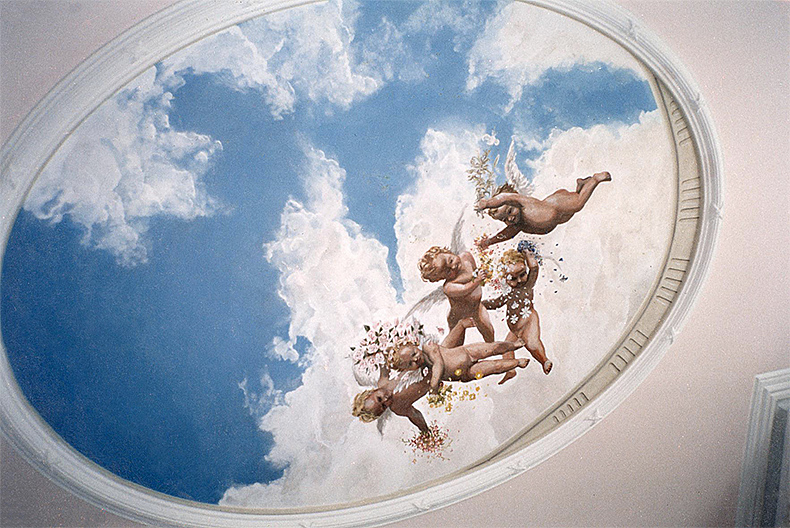 Ceiling with putti - Kew - Alexander Hamilton - Decorative Painter - London
