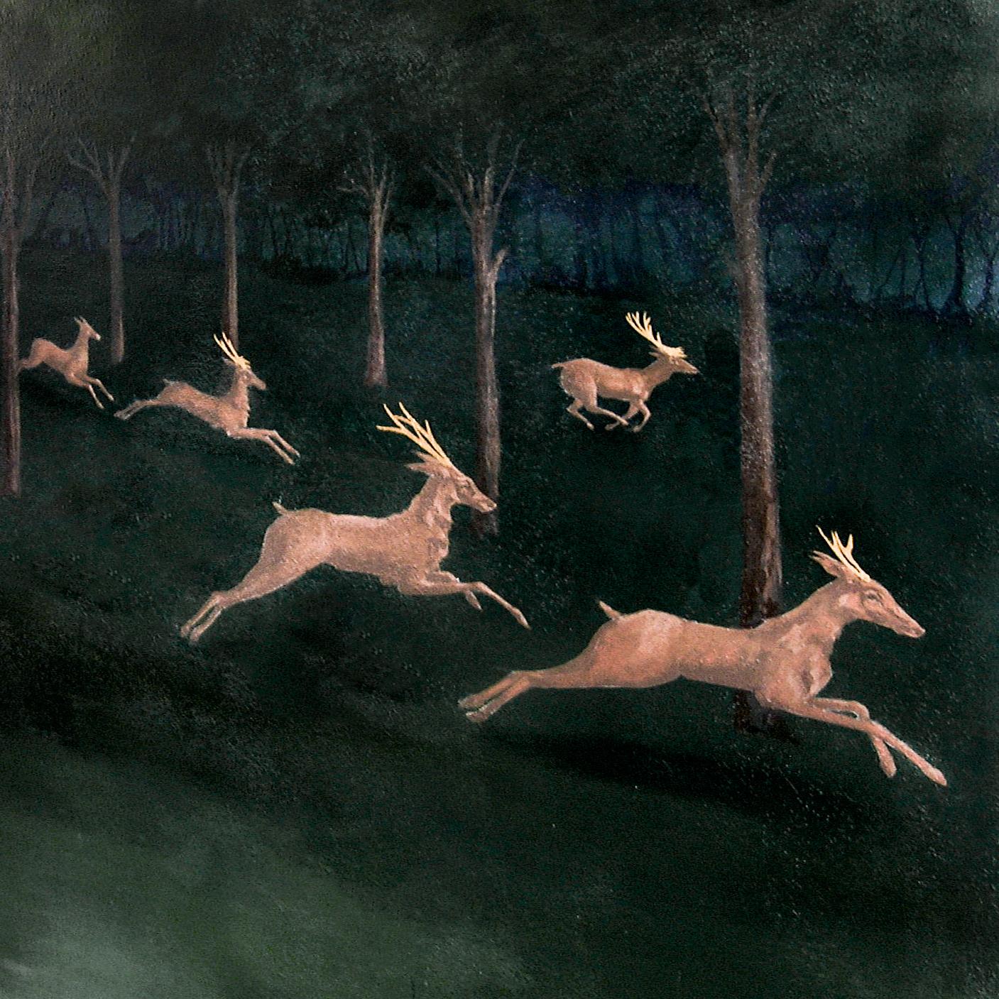 Close Up Hunting Scene Paolo Uccello - Alexander Hamilton - Decorative Painter - London