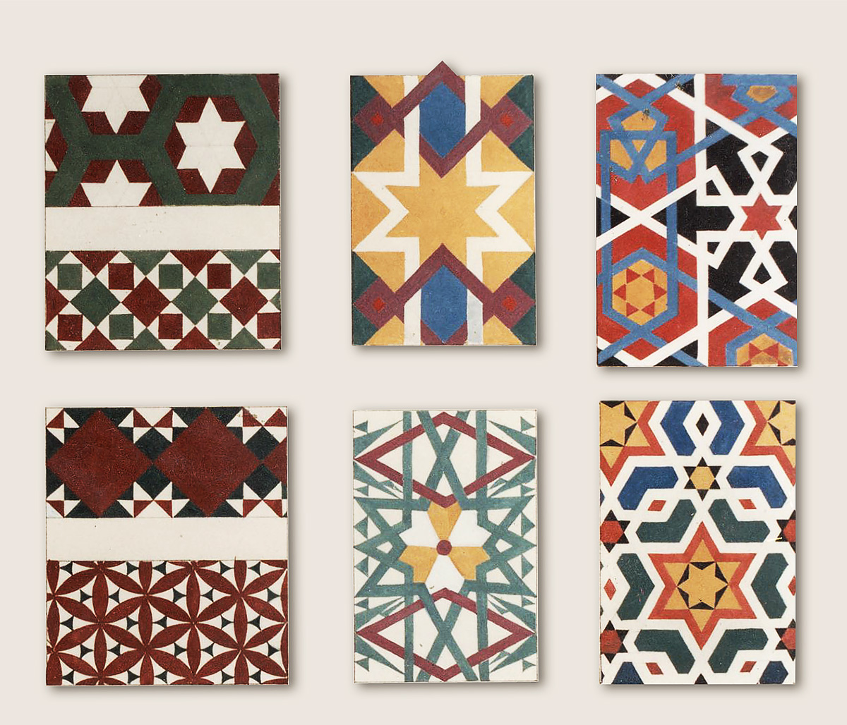 Geometric ornament samples - Alexander Hamilton - Decorative Painting Studio - London