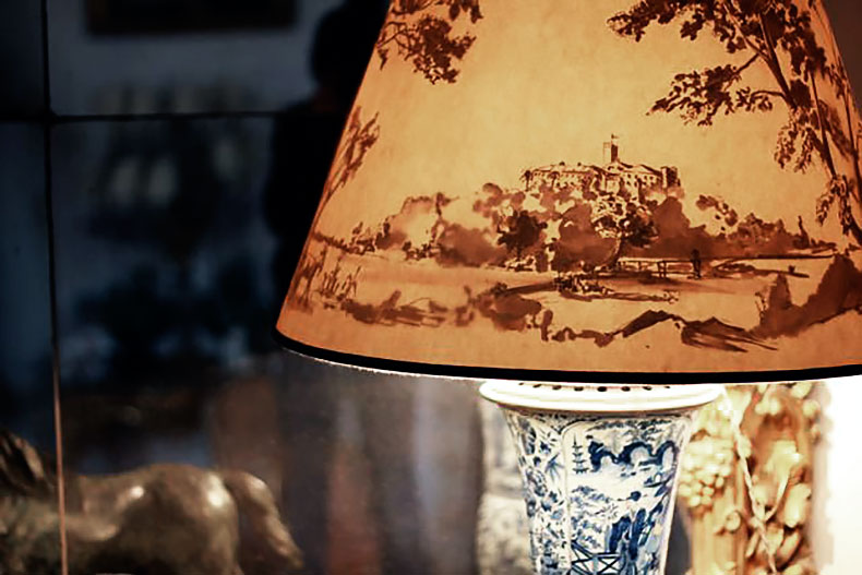Mystery lampshade with landscape - Alexander Hamilton - Decorative Painting Studio - London