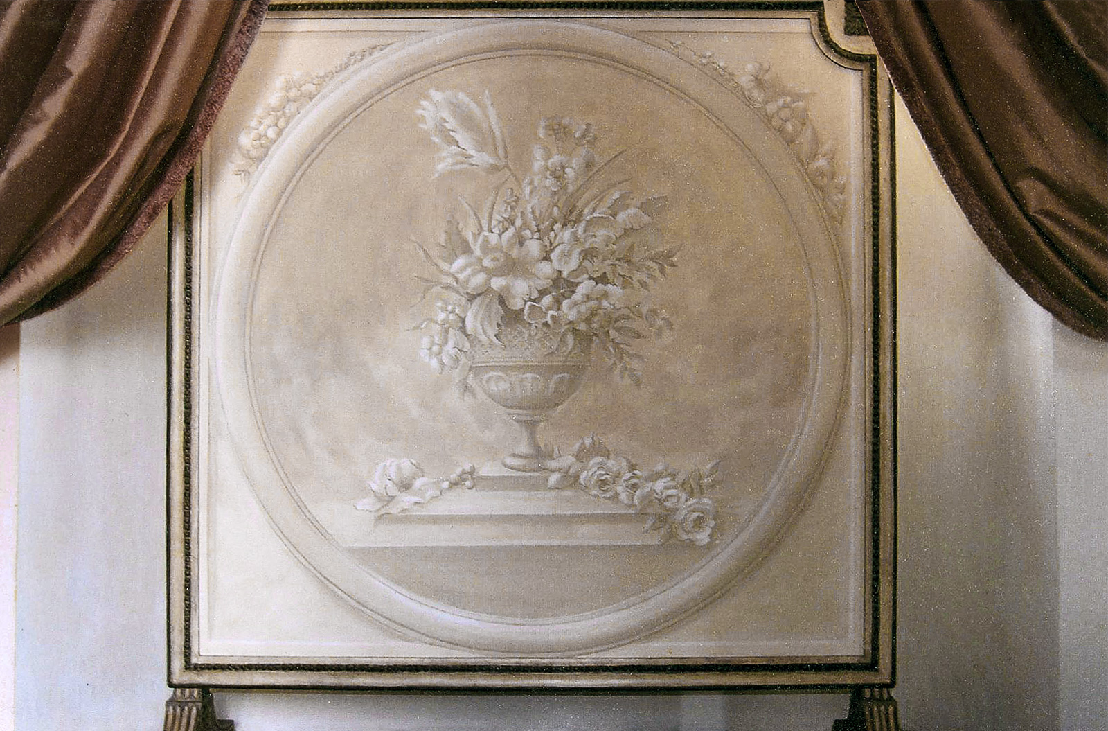 Screen with grisaille still life - Alexander Hamilton - Decorative Painter - London