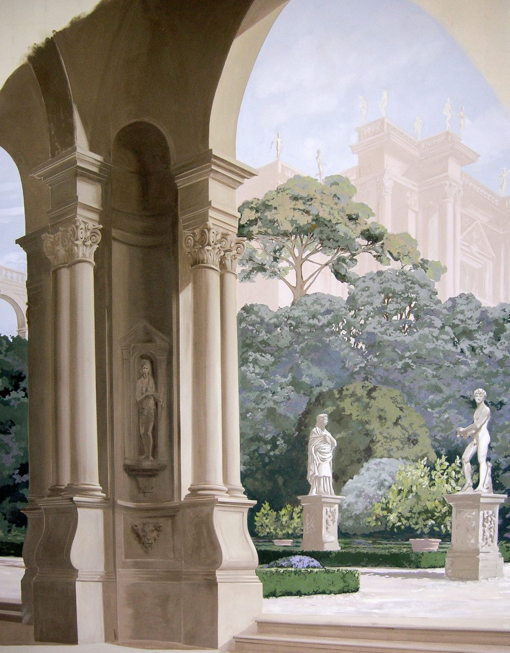 Frescoed panels – Alexander Hamilton