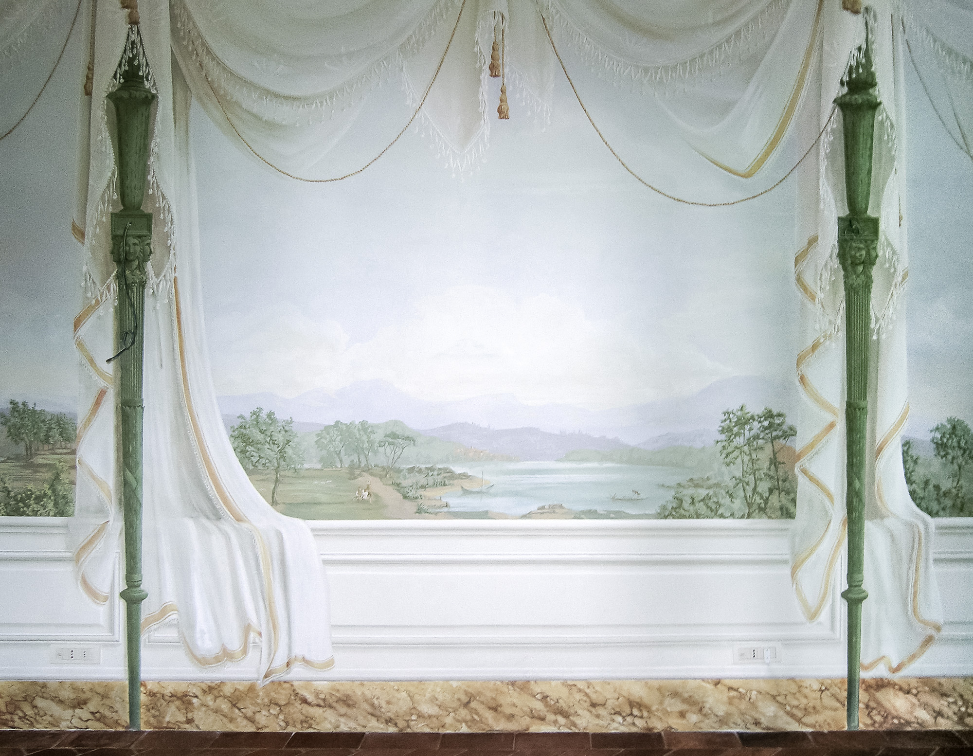 Tented room mural - Alexander Hamilton - Decorative Painter - London