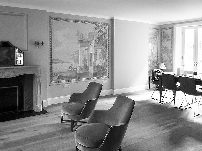 Butrint bw - Alexander Hamilton - Decorative Painter - London