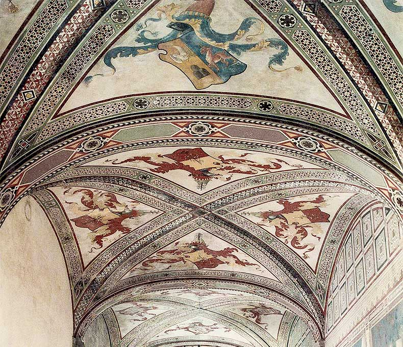Ceiling Banqueting Hall Malaspina Fosdinovo - Alexander Hamilton - Decorative Painter - London
