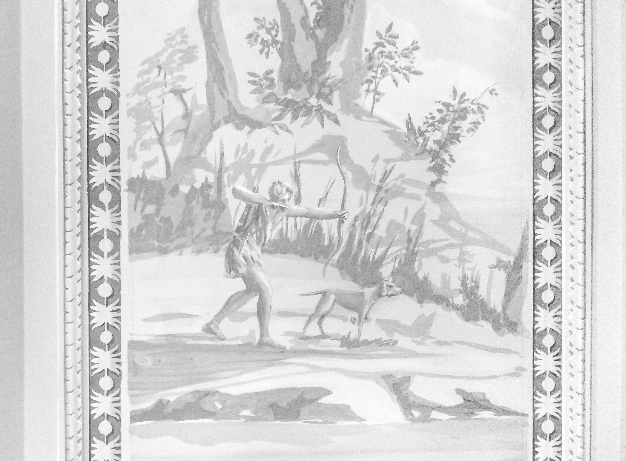 Hunter figure - Alexander Hamilton - Decorative Painter - London