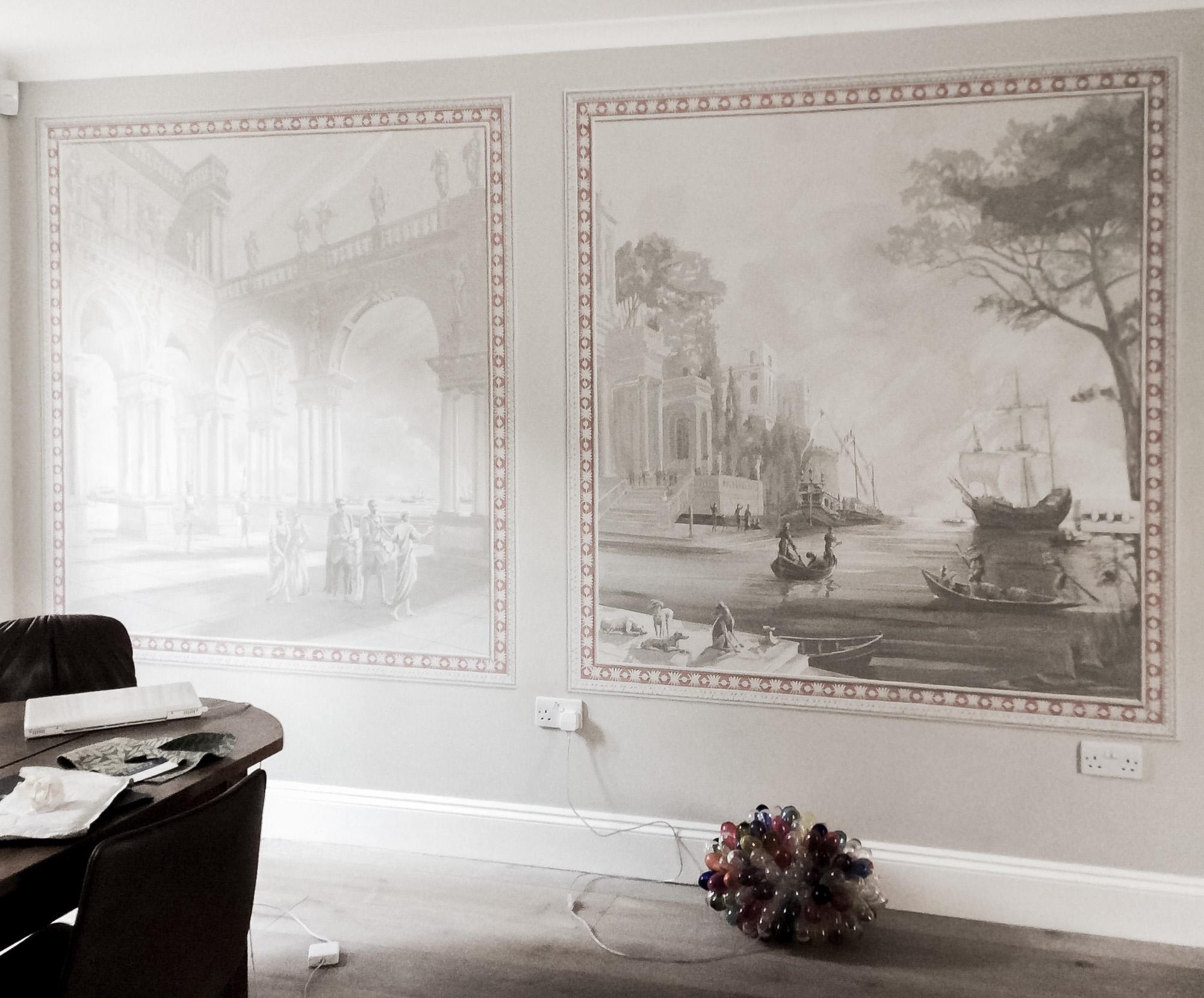 Lepanto mural - Alexander Hamilton - Decorative Painting - London