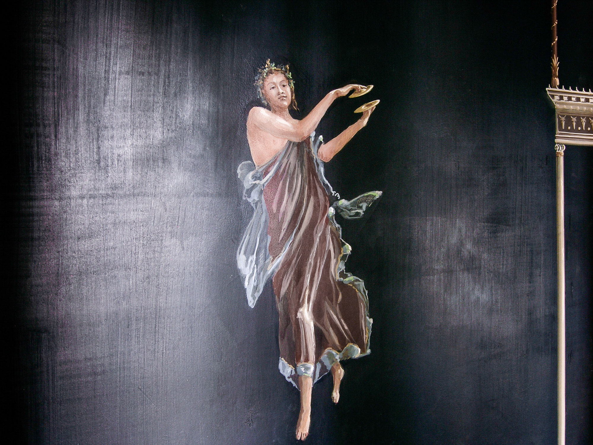 Pompeian dancing girl - Alexander Hamilton - Decorative Painter - London