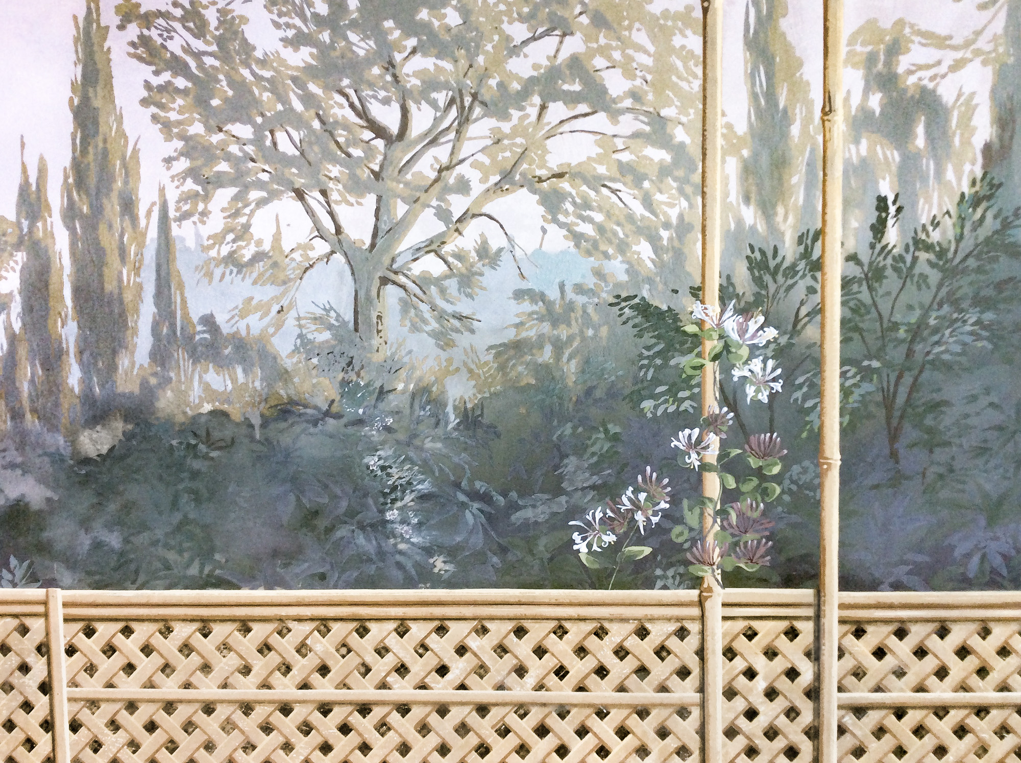 Close up bamboo pergola - Alexander Hamilton - Decorative Painter - London