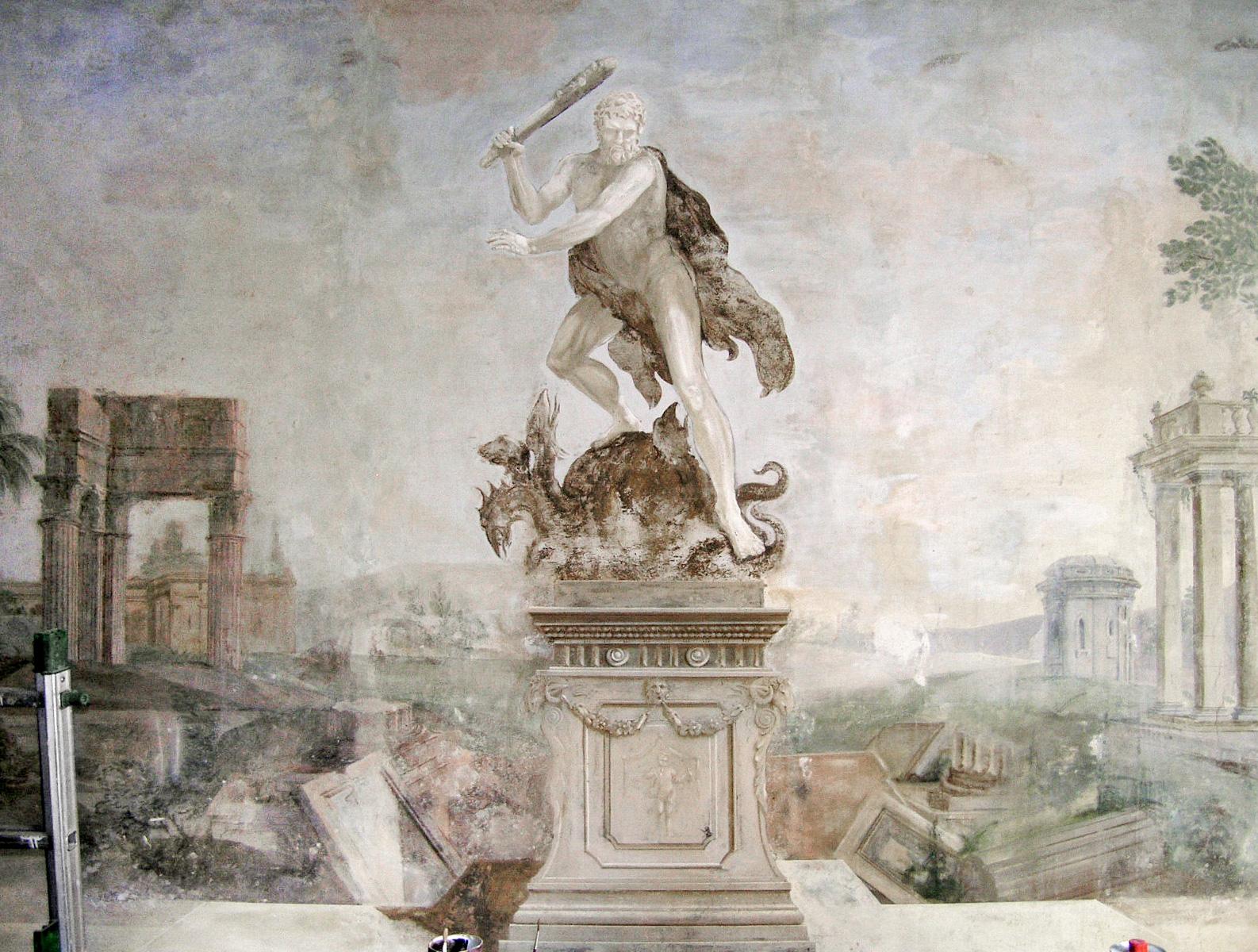 Hercules fresco - Alexander Hamilton - Decorative Painter - London