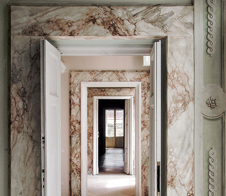 Marbled doorway enfilade - Alexander Hamilton - Decorative Painting Studio - London
