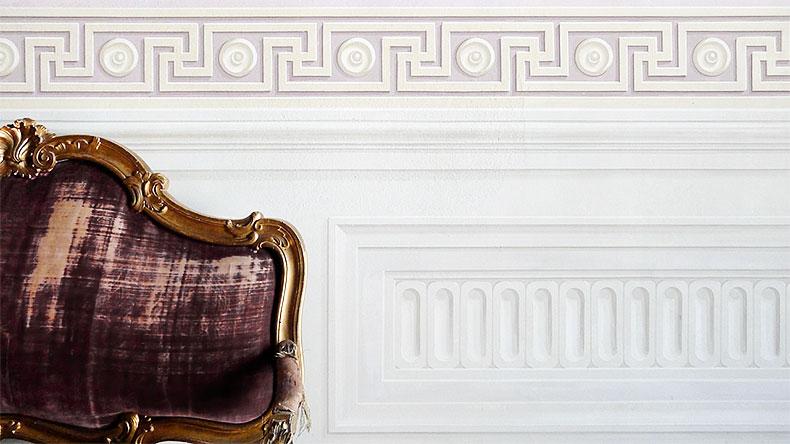 Meander frieze and panel - Alexander Hamilton - Decorative Painter - London