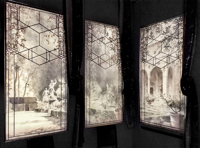 Mystery Panels at Night - Alexander Hamilton - Decorative Painter - London