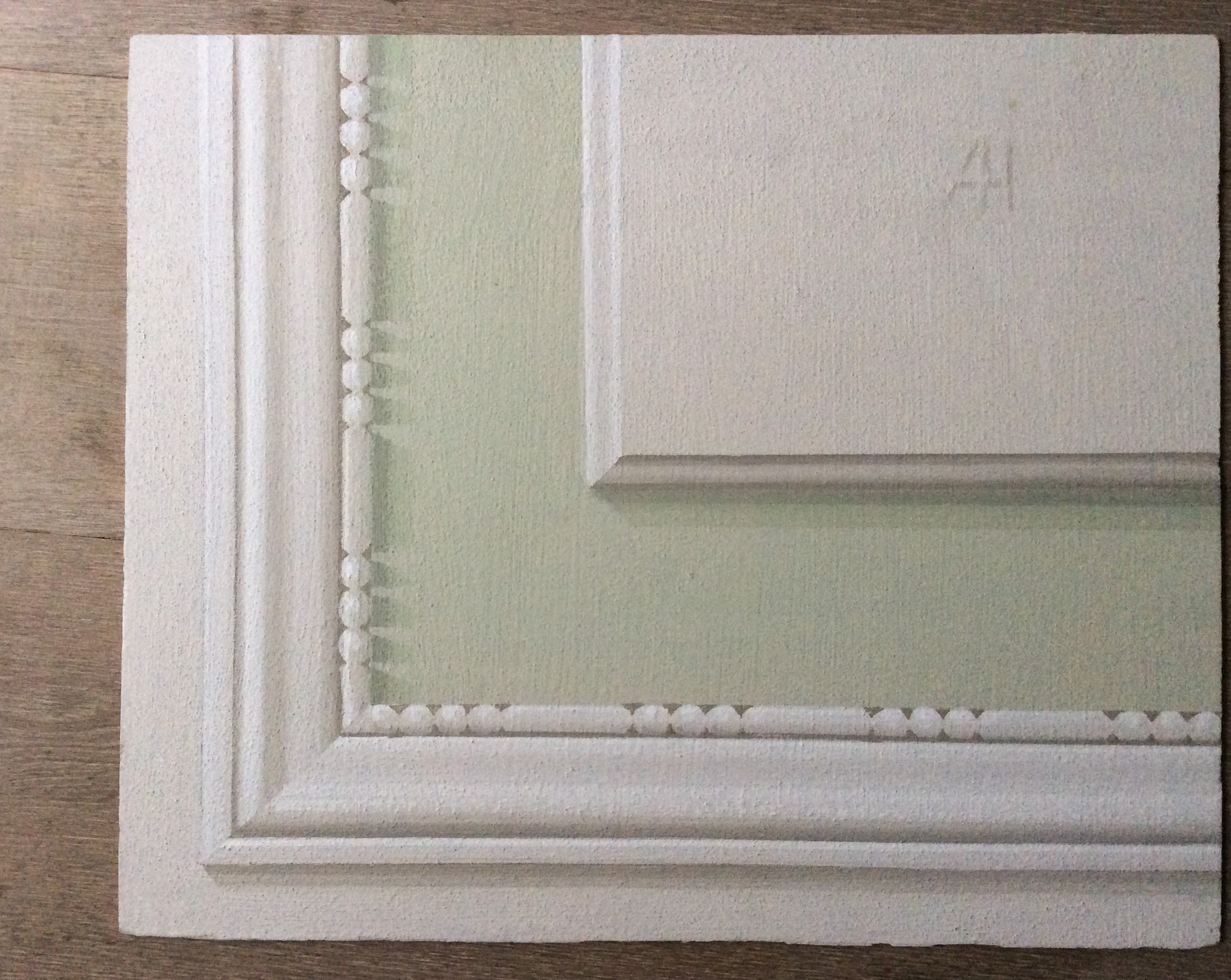 Green Painted Frame - Alexander Hamilton - Decorative Painter - London