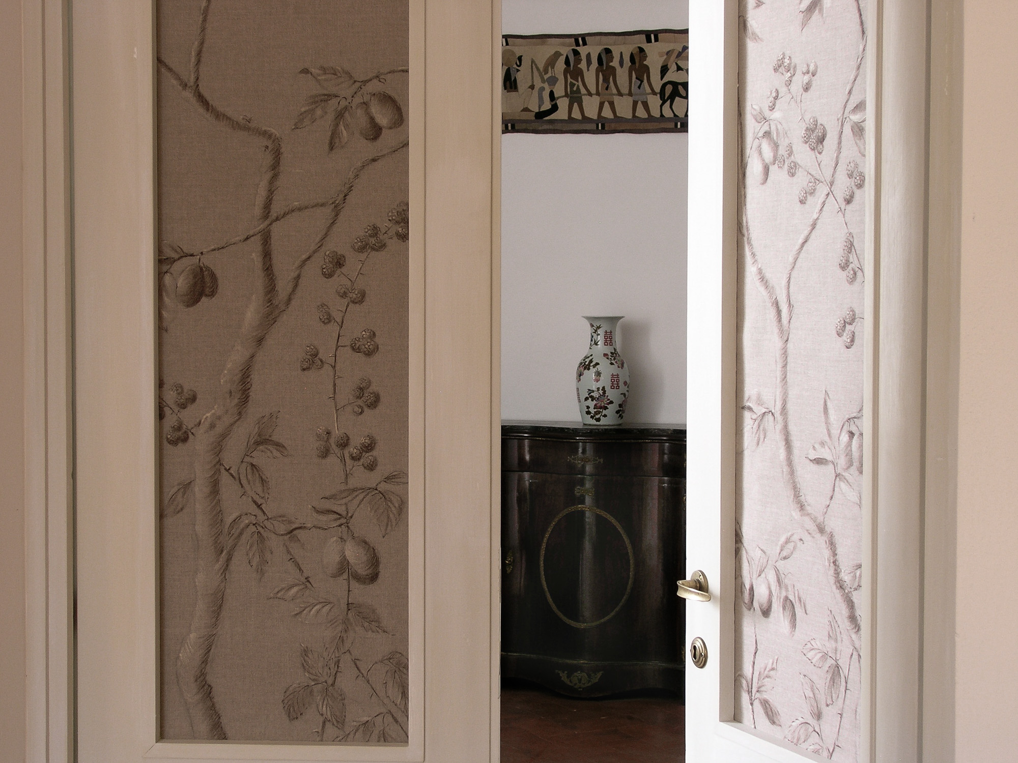 Painted linen door panels - Alexander Hamilton - Decorative Painter - London
